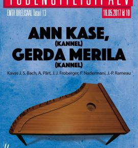 Tudengiteisipäev: Ann Kase (kannel) ja Gerda Merila (kannel)