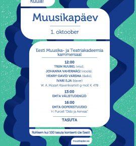 Rahvusvaheline muusikapäev. Õppejõud laval