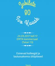 Jubilate: Ivo Kuusk 80