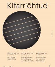 Kitarriõhtu. Ville Mustonen, Ivo Laanelind ja Katrina Haas
