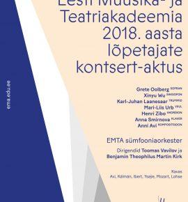 EMTA 2018. aasta lõpetajate kontsert-aktus
