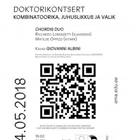 Doktorikontsert. Giovanni Albini