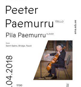 Õppejõud laval. Peeter Paemurru (tšello)