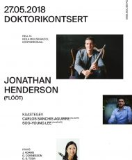 Doktorikontsert. Jonathan Henderson